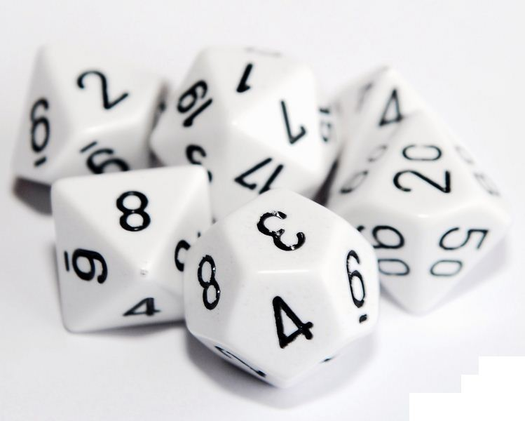 White Poly Dice